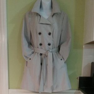 Sebby Collection Soft Shell Trench Coat #SS6500
